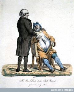 L0022226 'The poor doctor and the rich patient. 'You are very ill!'