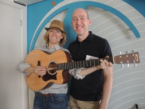 Cerys Matthews with Dr Alun Withey, 23rd June 2013, after appearing on her show