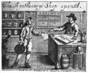 17Th Century English Apothecary Shop