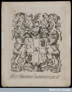 L0048991 Arms of the London Barber Surgeons' Company. Engraving
