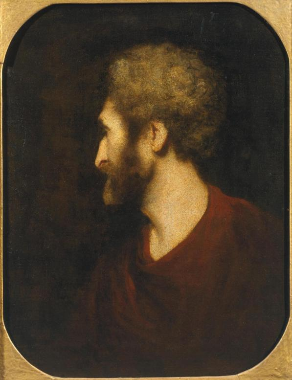 A Man's Head c.1771-3 by Sir Joshua Reynolds 1723-1792